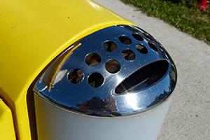 Cendrier, montage dans le montant en aluminium